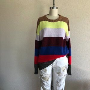 French Connection Cashmere 5 Stripe Sweater